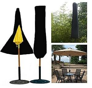 MD grupo jardín paraguas sombrilla cubierta con cremallera impermeable al aire libre Patio paraguas accesorios