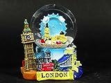 3D Snow Globe (Small)- London Collage, Detailing London Landmarks Big Ben, Tower Bridge etc.