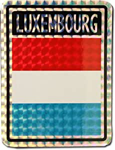 "Luxembourg - 3"" x 4"" Reflective Decal"