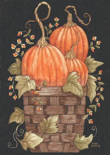 (Briarwood Lane Pumpkin Trio Autumn House Flag Primitive Fall Basket 28