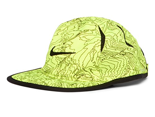 Nike Boy's Featherlight Printed Adjustable Hat (Sublime(8A2628-369)/Black/Volt, 12-24 Months)