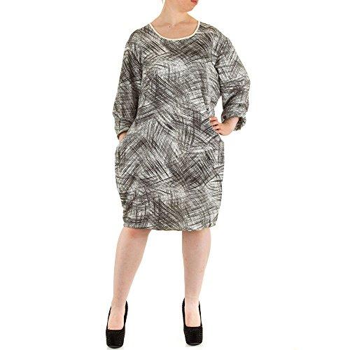 Ital-Design - Vestido - para mujer gris/negro