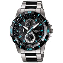 Casio Men's Core MTD1071D-1A1V Black Stainless-Steel Quartz Watch with Black Dial
