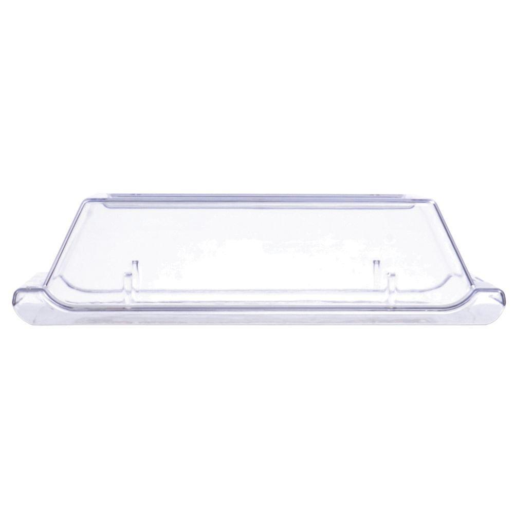 Churchill Alchemy China Plate Clear Plastic Cover - 11 7/8'' L x 5 1/2'' W