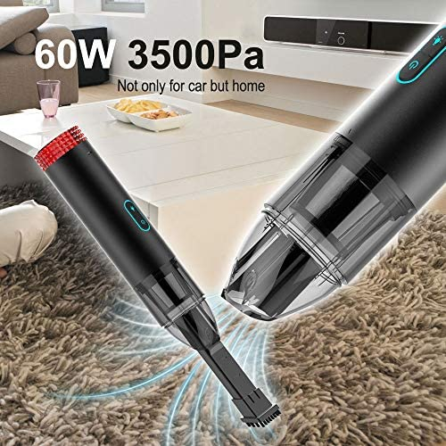 Aspirateur Portable Portable Sans Fil 4400mah 3400pa Succion Powerfor Home - Voiture Propre