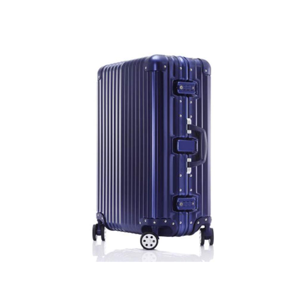 荷物、超軽量フルトランスペアレントスーツケースユニバーサルホイール搭乗シャーシトロリーケースパスワードボックスブルー (サイズ さいず : 87L)   B07JK1N992