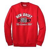 New Jersey State Chevron Souvenir Destination Location Design Sweatshirt
