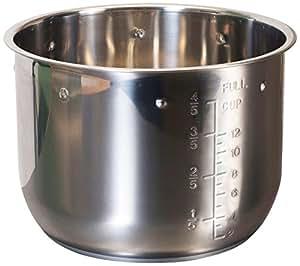 Elite Platinum EPSS-608 Maxi-Matic 6 Quart Pressure Cooker Inner Pot, Stainless Steel