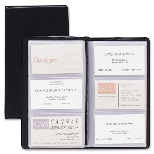 TOPS Cardinal Sealed Vinyl 72 Card File, Black, (751 610) ()