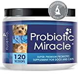 Probiotics for Cats, Dogs - 120 Scoops - Probiotic Miracle - Support Diarrhea, Loose Stool, Yeast, and More