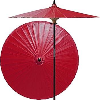 Amazon.com: Oriental-Decor - Paraguas de madera de bambú ...