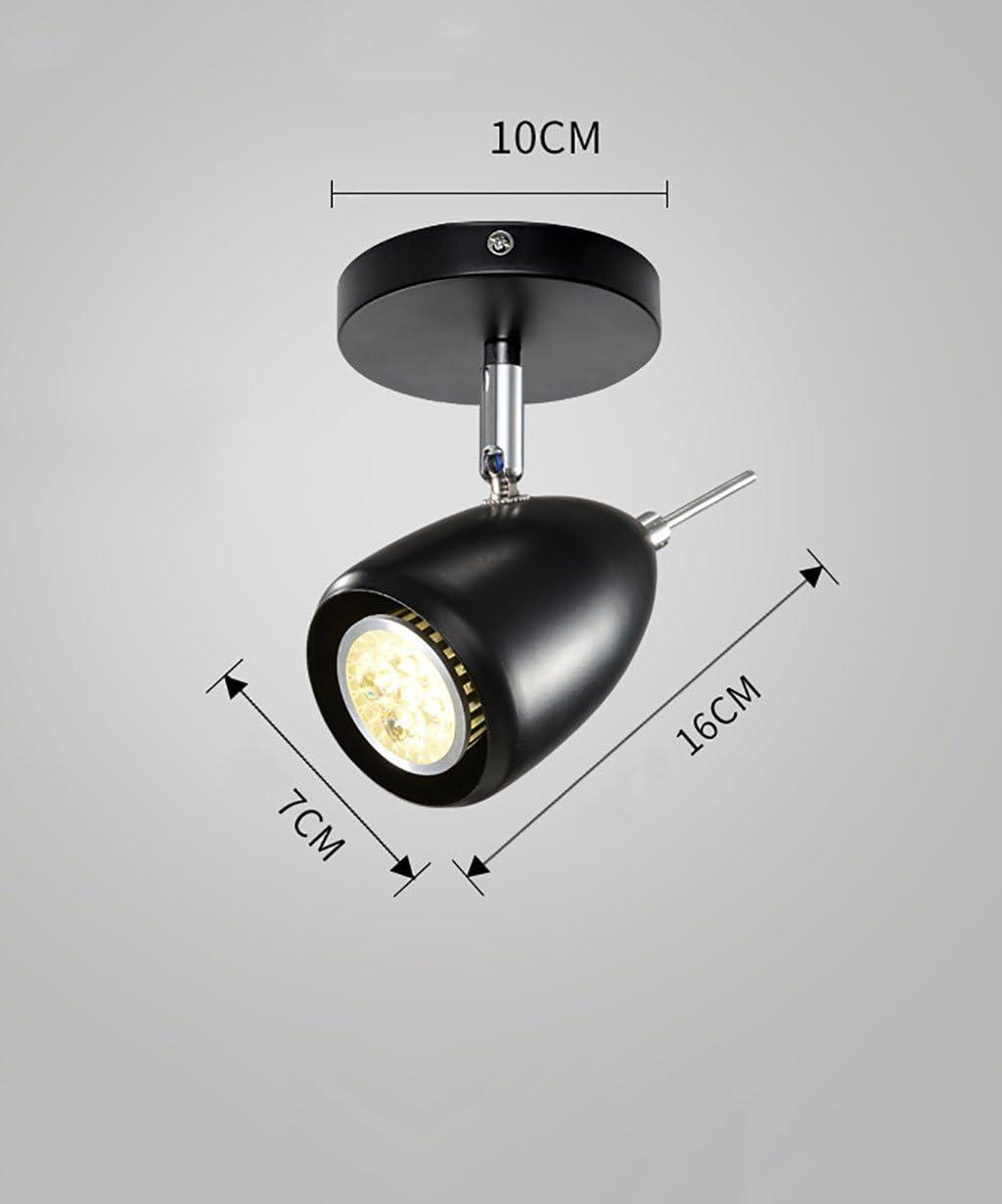 58SD 光源LEDスポットライトシーリングライト背景ウォールスポットライト付き (Color : 10W, Size : WHITE)