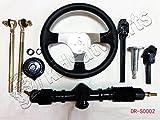 Steering Wheel Assembly Tie Rod Rack Adjustable Shaft Set for 150cc Go Kart