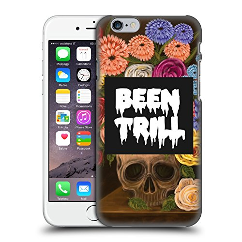 Official Been Trill Vase Floral And Skulls Hard Back Case for Apple iPhone 6 / 6s
