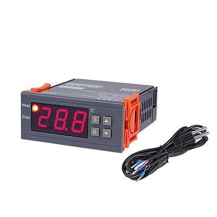 Topker Termómetro de control digital de temperatura KB183 AC220V 20 ℃ a 35 ℃ Termostato de