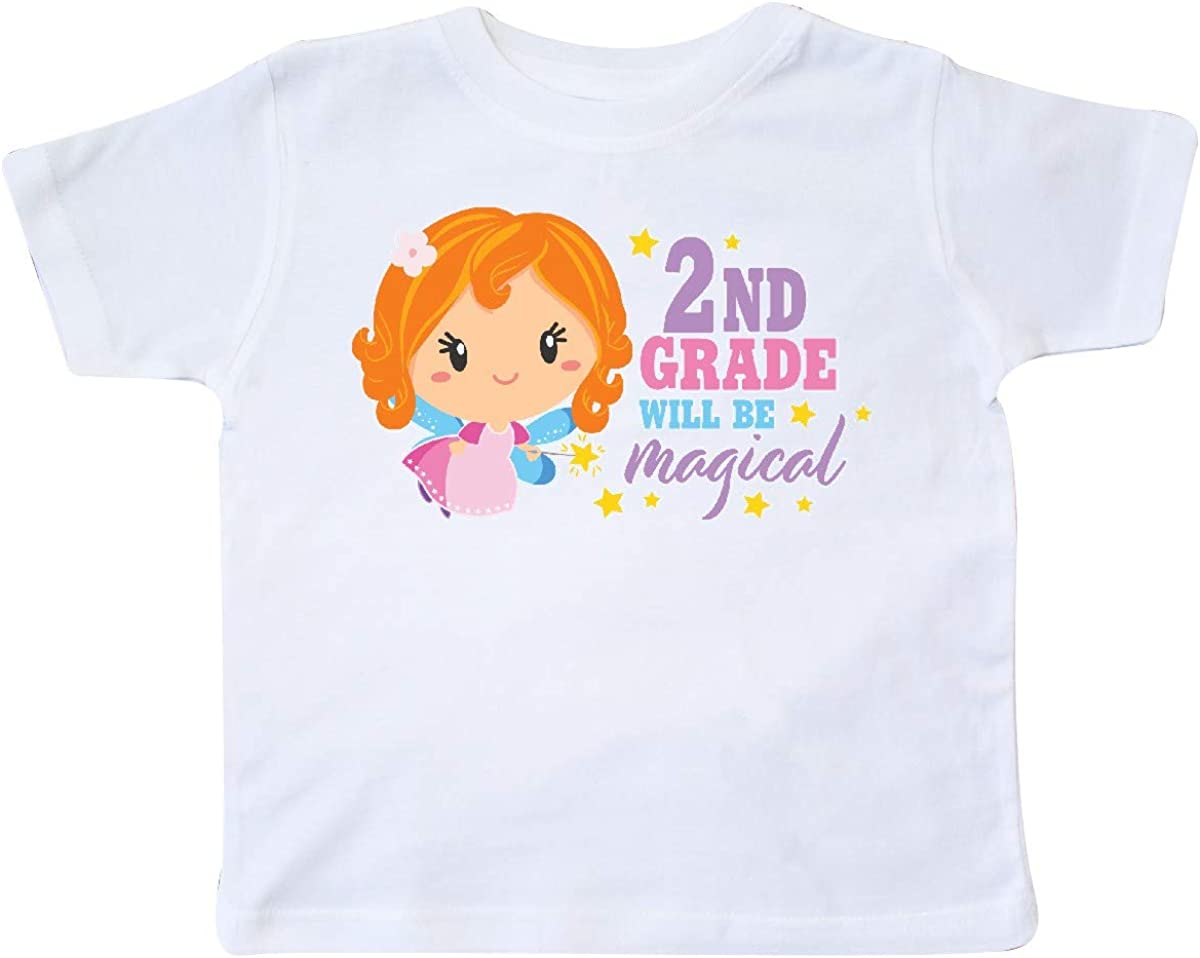 inktastic 2nd Grade Will Be Magical with Red Haired Fairy Toddler T-Shirt