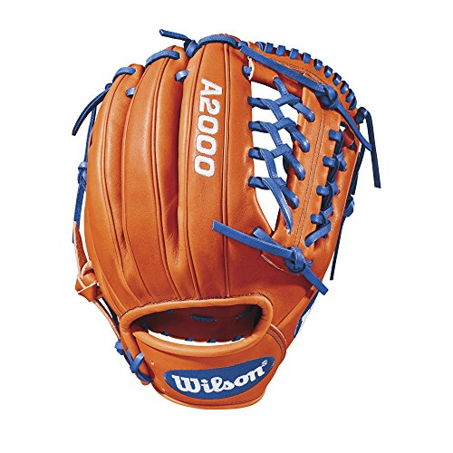 Wilson 2018 A2000 1789 Infield/Pitcher's Gloves - Right Hand Throw Orange Tan/Royal/White, (A2k Pro Stock)