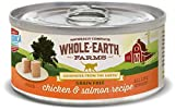 Whole Earth Farms 24 Case Grain Free Real Chicken & Salmon Recipe, 2.75 oz