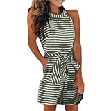 Vicbovo Clearance Women's Summer Striped Jumpsuit