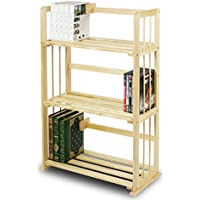 Pine Wood 34 Bookcase Open Display Rack