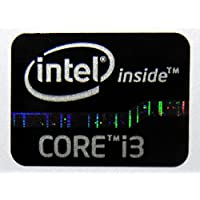 Original Intel Core i3 Inside Sticker Black Edition 15.5 x 21mm [622]