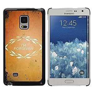 Paccase / SLIM PC / Aliminium Casa Carcasa Funda Case Cover para - BIBLE I'M Forgiven - Samsung Galaxy Mega 5.8 9150 9152