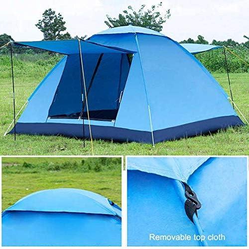 LLKK Parasol 3-4 personen winddicht camping pop-up tent dubbel waterdicht en open UV-bescherming toeristische luifel buiten wandelen strand reizen