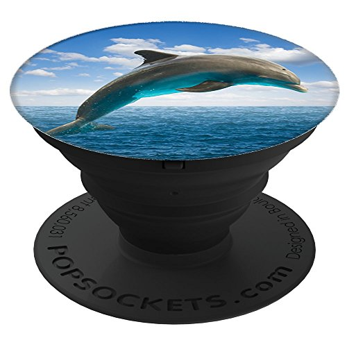 Sassy Southern Charm & Grace Beautiful & Unique Dolphin Photography Nature Lover Gift on Black for Wireless Phone PopSockets Stand for Smartphones and Tablets