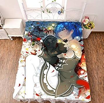 MXDFAFA Re Zero Kara Hajimeru Isekai Seikatsu Rem Anime Bed Sheet Throw Blanket Bedding Coverlet Cosplay Gifts Otaku