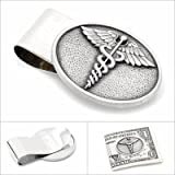 Pewter Caduceus Money Clip