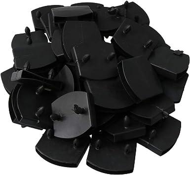 Yibuy 50 piezas de plástico doble centro de la cama tapas de los soportes de repuesto