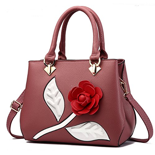 Bags Shoulder Women Flower Tote Pink Handbag 0Cx7qa1
