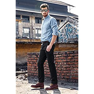 INFLATION-Mens-100-Cotton-Wild-Casual-Pants-For-Mens-Slim-Fit-Cargo-Cleaning-Pants-Work-Pants-Trousers-side