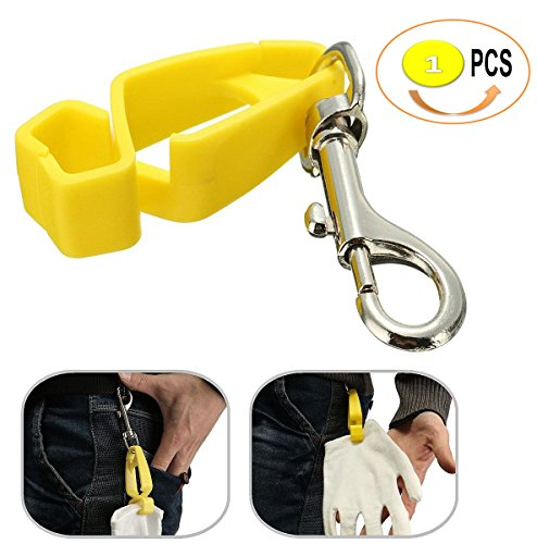 AT07 Safety Guard Glove Clips Belt Clips,Utility Catcher Clip Hook Belt Clips, Glove Carrier Clips, Safety Clips for Glove,Helmet, Earnuff, Mask, Cable, Cord, Rope (1 PC PACK)