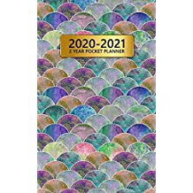 2020-2021 2 Year Pocket Planner: Two-Year Monthly Pocket Planner with Phone Book, Password Log and Notebook. Pretty 24 Months Agenda, Diary, Calendar and Organizer - Vintage Boho Japanese Waves Print