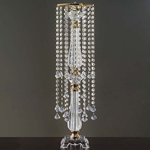 Efavormart Gold 19 Hanging Crystals with Large Teardrops Diamond Crystal Chandelier Wedding Centerpiece - 28