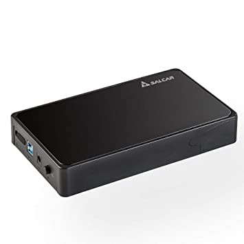 Salcar USB 3.0 Hard Disk Drive Enclosure for 3.5 Inch SATA HDD and SSD External Hard Drive Enclosure HDD Case Support UASP