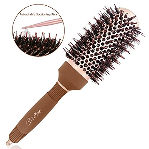 Salon Rollers (Blow out Round Roller Brush with Boar Bristles for Blow drying (1.7