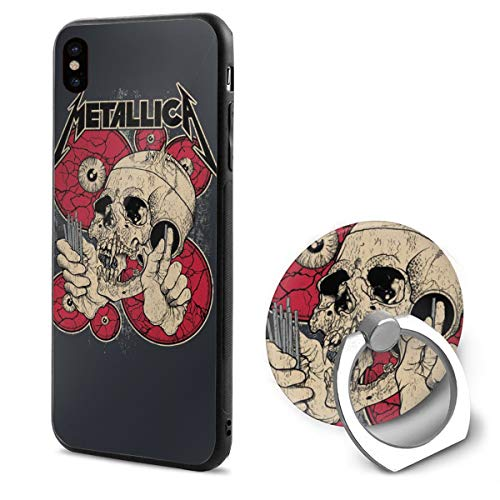 LLSKAKLVVA Metallica Band Cell Phone Case for iPhone X with Ring Bracket White One Size