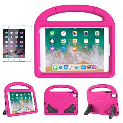- iPad Mini 1/2/3/4/5 Case for Kids, SUPLIK Durable Shockproof Protective Handle Bumper Stand Cover with Screen Protector for Apple 7.9 inch iPad Mini 5th (2019),4th,3rd,2nd,1st Generation, Pink
