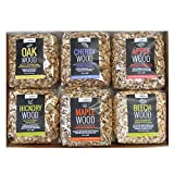 Wood Smoking Chips Collection 6 x 500g packs in Apple, Beech, Cherry, Hickory, Maple and Oak