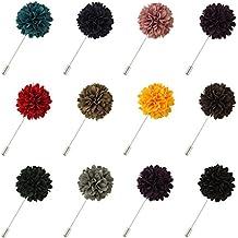 FM42 Multicolor Cloth 35mm Diameter Carnation Flower Corsage Boutonniere Brooch Lapel Pin (12 Colors)