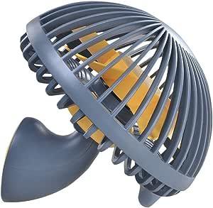 LBTbate Mini Desk Fan, Portable USB Fan Office&Desktop, Small Personal Cooling Fan, Mushroom Design Fan Table Desktop Electric Fan for Office Home Outdoor (Gray)