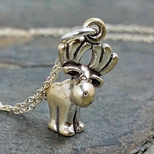 Cute Moose Necklace - 925 Sterling Silver