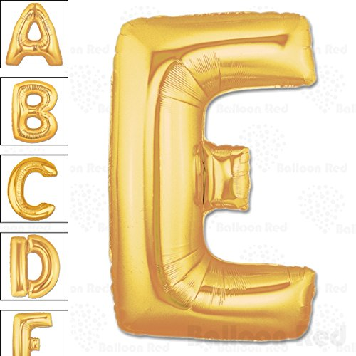 40 Inch Giant Jumbo Helium Foil Mylar Balloons for Party Decorations (Premium Quality), Matte Gold, Letter E - Homemade Halloween Costumes Balloons