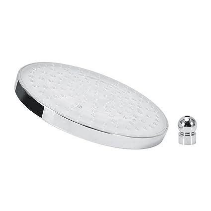 Shower Equipment 8 Inch Round Rain Stainless Steel Bathroom Rgb Led Light Shower Headfreeshipping