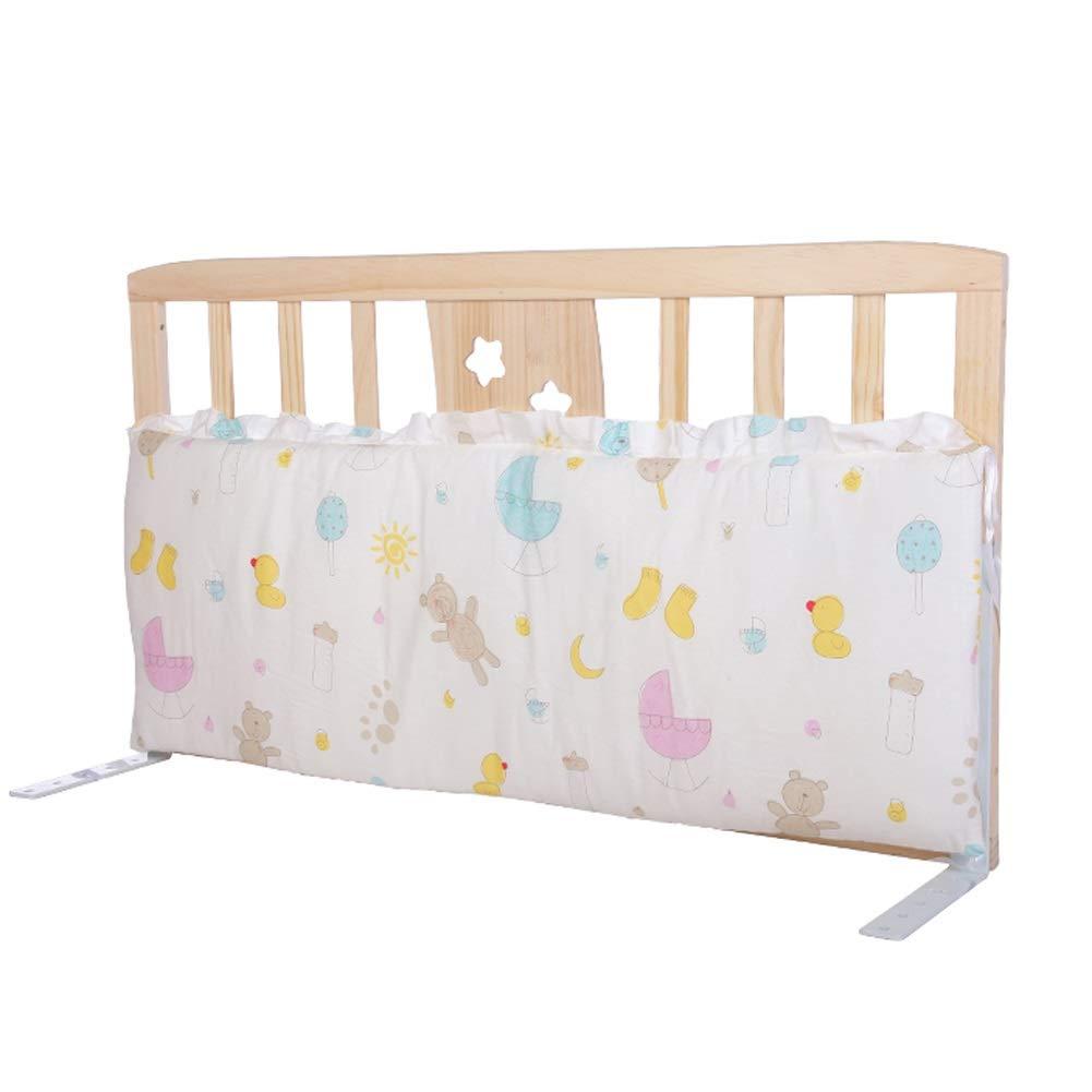 ベッドレール 純木のベッドの柵、赤ん坊の落下抵抗の保護塀のベッドサイドの柵の幼児子供のバッフル、サイズ任意 (色 : Cartoon paradise, サイズ さいず : With Door 90cm)   B07PG3YL2G