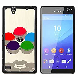"For Sony Xperia C4 Case , Esfera abstracta Sci Fi Atom Núcleo"" - Diseño Patrón Teléfono Caso Cubierta Case Bumper Duro Protección Case Cover Funda"