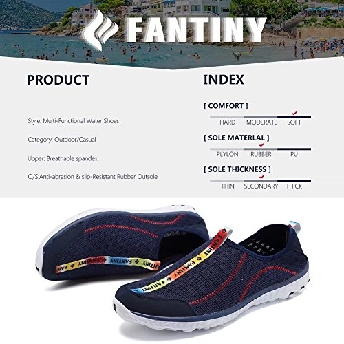 Cior Fantiny Mujeres Quick Drying Aqua Water Shoes Malla Slip-on Athletic Sport Casual Sneakers Para Hombres Y.dark Blue