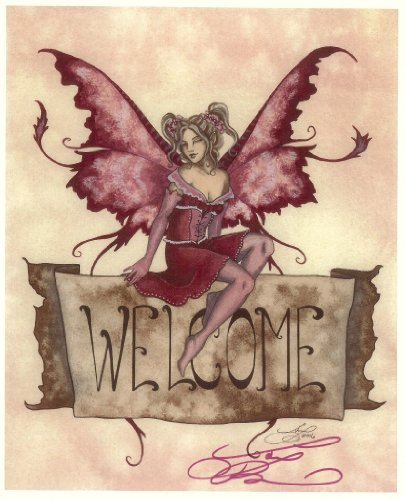 Welcome Banner Amy Brown Open Edition Signed 8.5